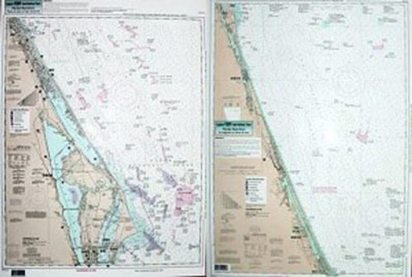 Captain Segull Chart No PCB34 Nearshore Ponce de Leon to Bethel Shoal, FL