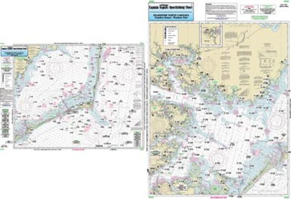 Captain Segull Chart No PS25 Nearshore Pamlico Sound, NC