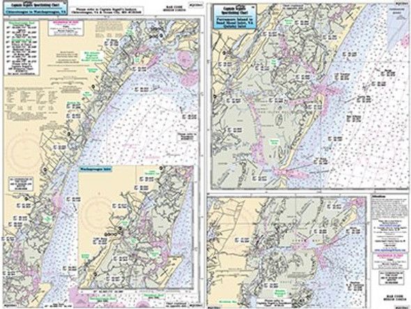 Captain Segull Chart No QUI341 Chincoteague - Wachapreague - Quinby,VA