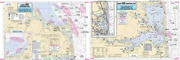 Captain Segull Chart No RB305 Rehoboth & Indian River Bays, DE
