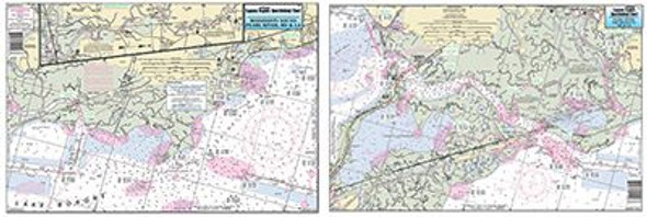 Captain Segull Chart No RWP342 Rigolets, LA, Pearl River to Waveland, MS