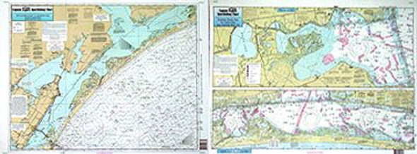 Captain Segull Chart No SA57 Nearshore Inshore San Antonio, TX
