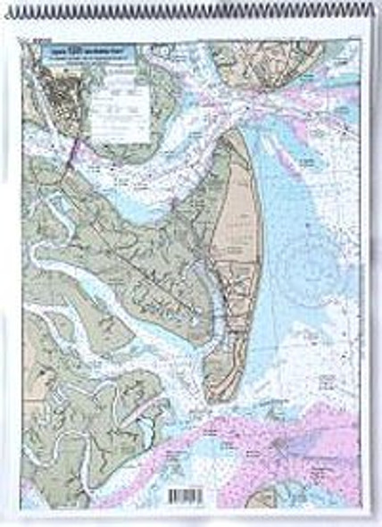 Captain Segull Chart No ST129 ICW: St Simons Sound to Tolomato River, FL
