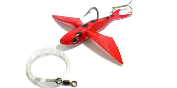 California Yummee Flying Fish - Red Ladybug Fishing Kite Lure