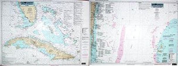 Captain Segull Chart No BAC 31 Offshore Cuba & Bahamas