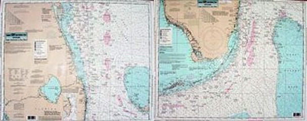 Captain Segull Chart No CCKW32 Offshore Cape Canaveral to Key West, FL