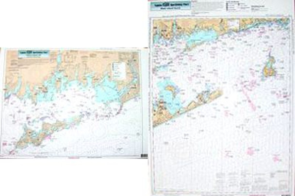 Captain Segull Chart No FI105 Inshore Fishers Island, NY, Coast of CT
