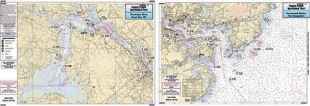 Captain Segull Chart No GB306 Portsmouth Harbor, NH/Great Bay & Kittery ME