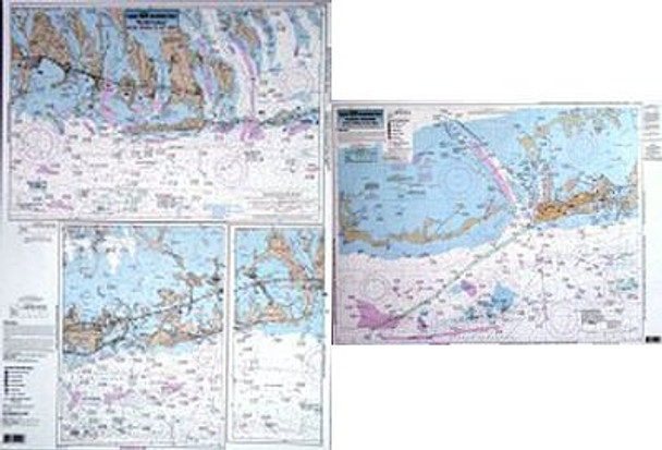 Captain Segull Chart No KW122 Inshore Keys, Marathon to Key West, FL