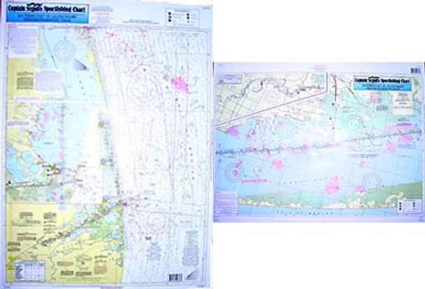 Captain Segull Chart No LMS52 Nearshore - Inshore Laguna Madre South, TX