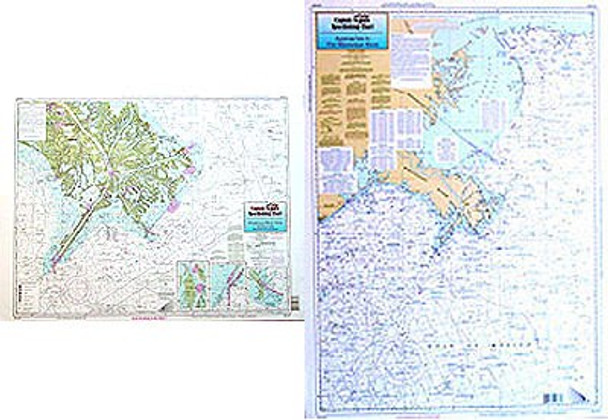 Captain Segull Chart No MAD50 Mississippi River Approaches and Delta, LA