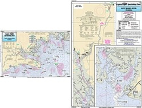 Captain Segull Chart No SMR320 Saint Marks River and approaches, FL