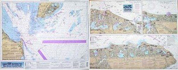 Captain Segull Chart No SNJ110 Inshore South Coast of New Jersey