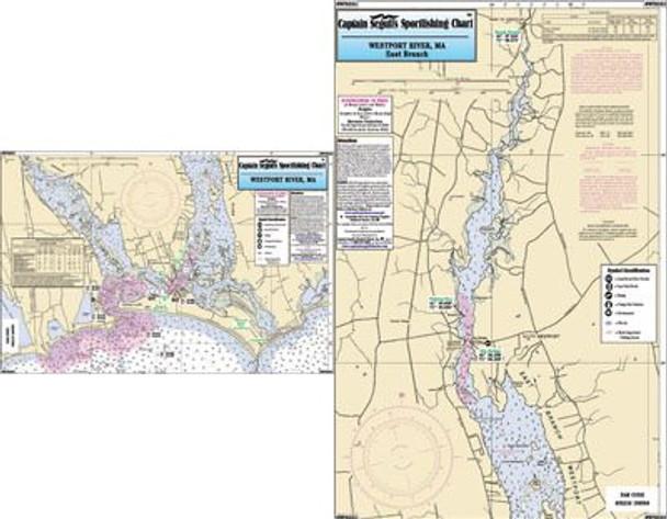 Captain Segull Chart No WPR332 Westport River, MA