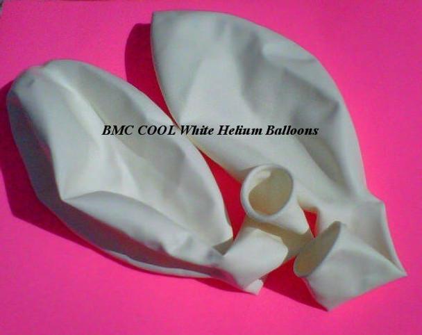 10 White 40 in Helium Fishing Balloons