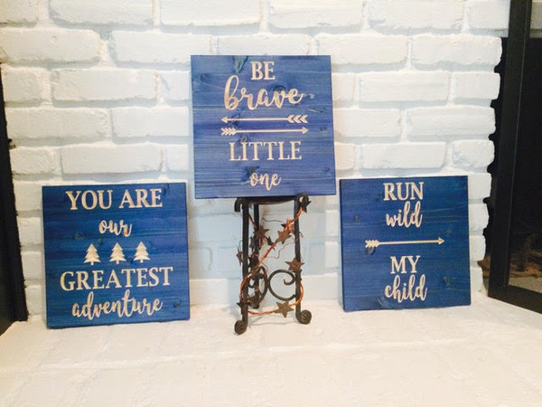"Be Brave Little One Sign - 12""x12"""