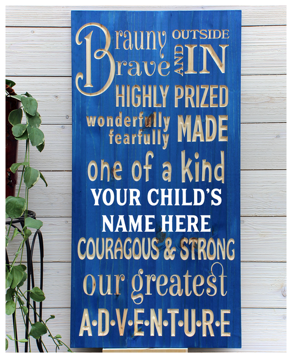 "Boys Sign - Personalized - 16""x32"""