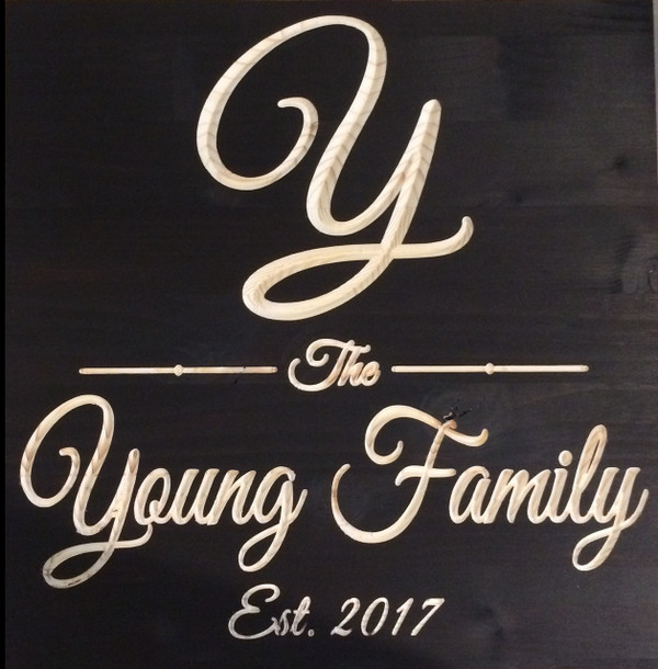 "Personalized Family Sign - 12""x12"""