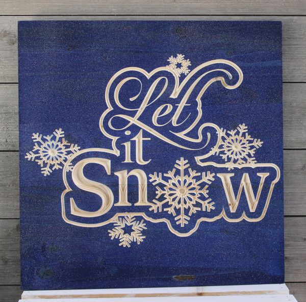 "Let It Snow 12""x12"" or 18""x18"""