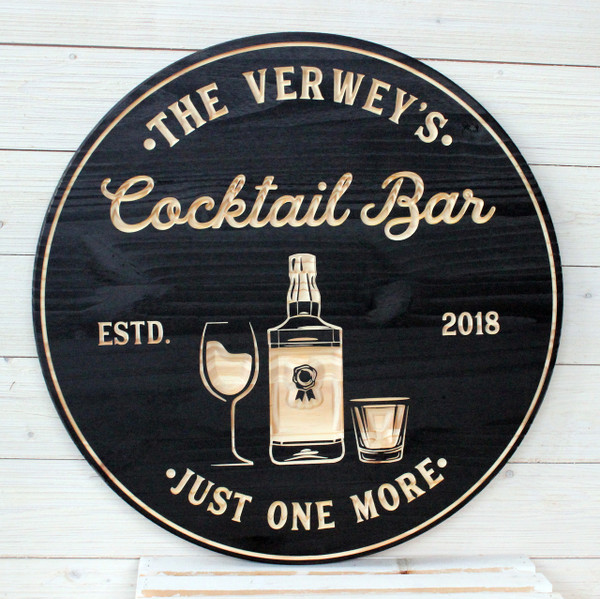 Cocktail Bar Personalized Sign, Bar Signs