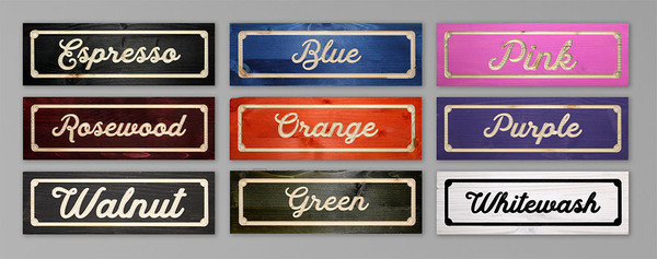 """Laundry Sign - Personalized -  20""""W x 28""""H Rectangle"""