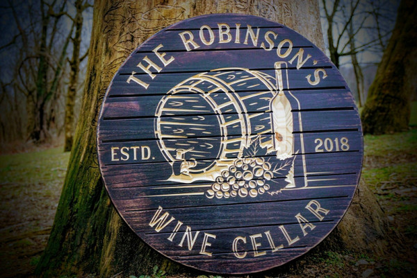 RUSTIC Wine Cellar Sign, Barrel Look and Feel, Wine Sign, Personalized Bar Signs, Bar Sign, Winery Sign, Rustic Bar Signs, Custom Bar, Wine Decor