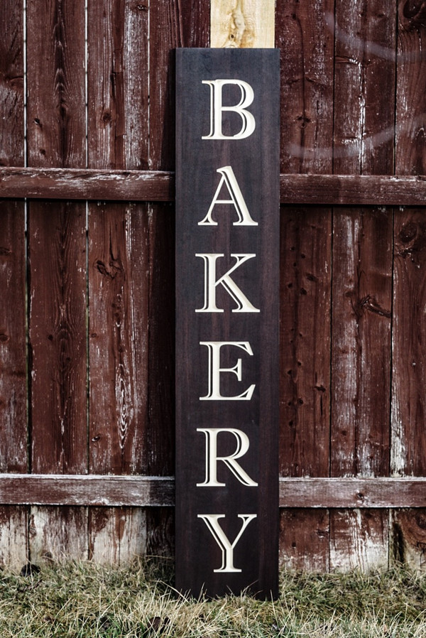 Bakery Sign Kitchen Signs Carved Signs Wood Signs Farmhouse Rustic Kitchen Kitchen Wall Art Dining Room Art Wall Decor Wall Art
