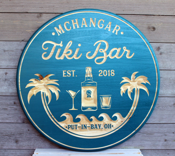 Tiki Bar Sign, Beach Bar, Beach House, Pool Bar, Lake Signs