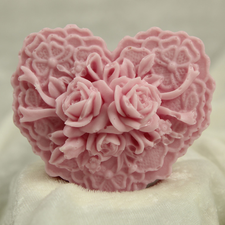 Little Portion Bakery Gift Soap Gift Soap - Hearts and Roses - Honey Almond - Pink