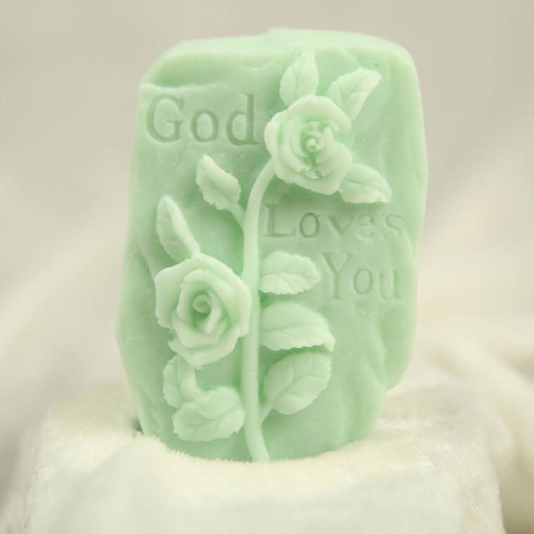 Little Portion Bakery Gift Soap Gift Soap - God Loves You - Peppermint - Green