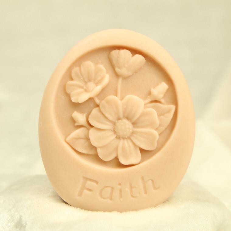 Little Portion Bakery Gift Soap Faith - Vanilla Sandalwood - Salmon