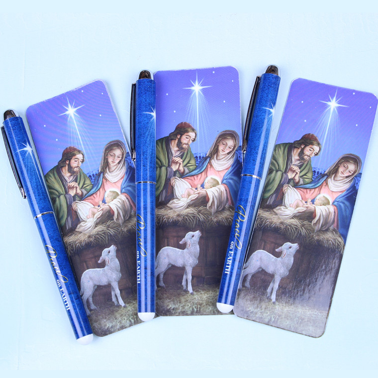 Peace on Earth Gift Pen with Bookmark