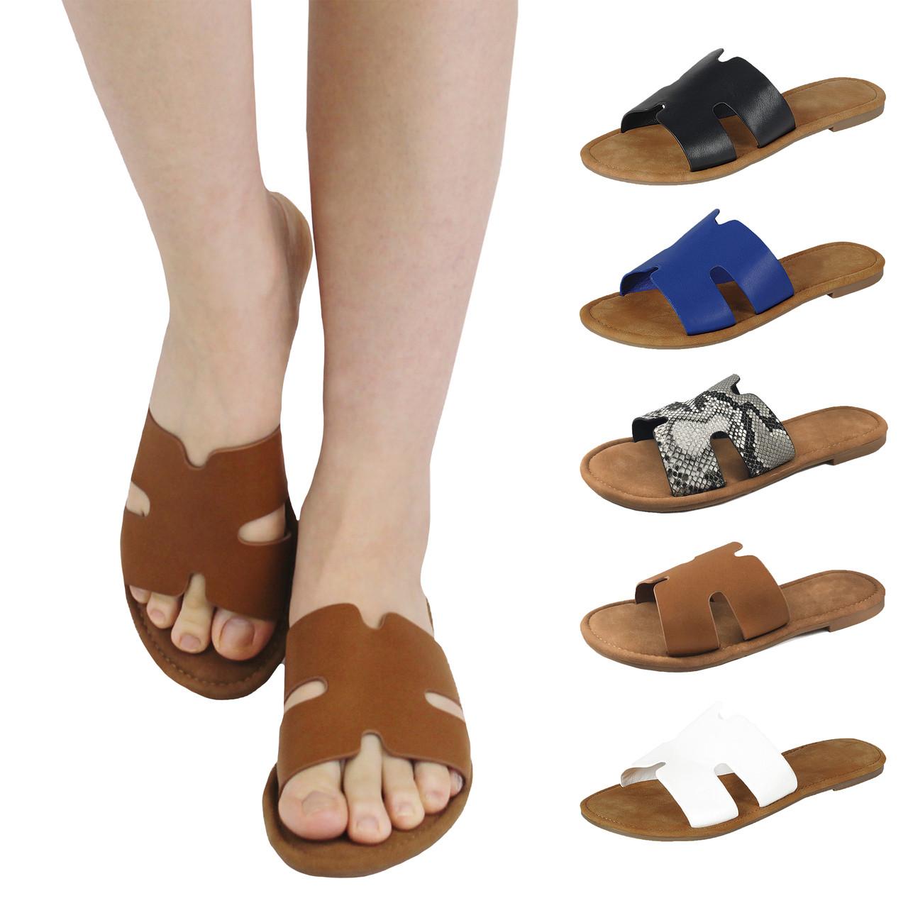 d1ebdb8c69 Women's H Greece Open Toe Flat Slide Sandal (Free Shipping)