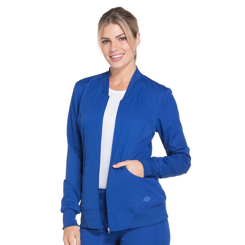 032944857dc Dickies DYNAMIX Women's Zip Front Warm-up Scrubs Jacket - Scrubs4US ...