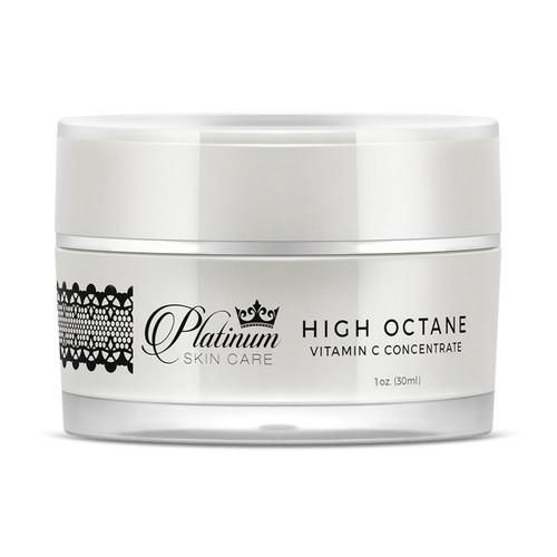 High Octane Vitamin C Serum.  Water Free Formula.  L Ascorbic acid face serum. Brighten and even skin tone. Skin Glow. Vitamin C L-ascorbic acid.