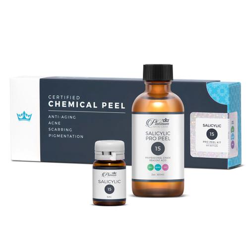 Salicylic peel 3%, 15%, 25%. Professional peel. Acne peel. Deep pore cleansing.