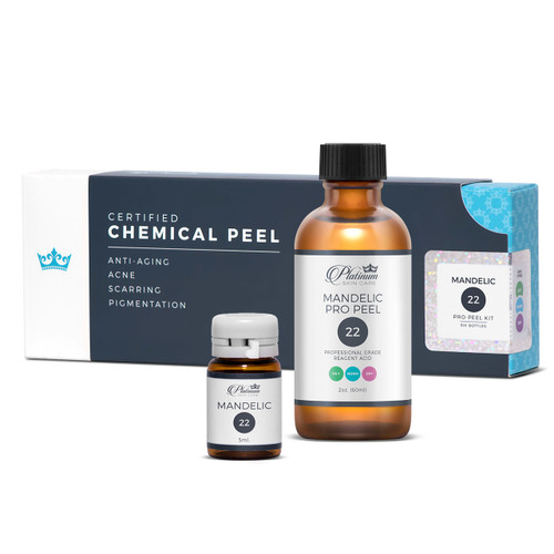 Mandelic peel 22% and 40%. Certified Pro Peel.