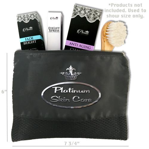 Platinum Makeup Bag. 6x7.75