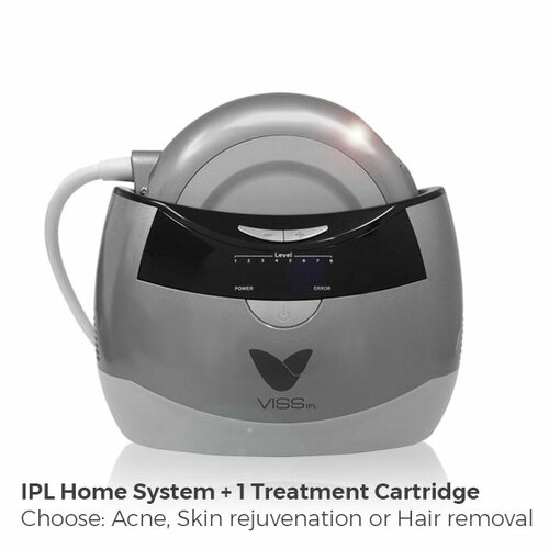 VISS IPL Skin Rejuvenationtm This is a powerful at-home IPL device that has a whopping 25 joules of strength. Use this 1-2x per week to help improve many common skin issues such as: Wrinkles, Dark spots, Rosacea, Enlarged pores, Fine lines, Acne, Hair removal or reduction