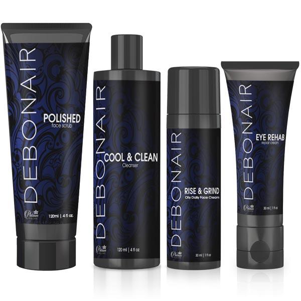 Debonair Mens Facial Skin Care Set Platinum Skin Care