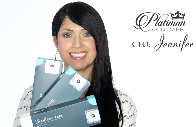 Platinum Skin Care CEO and fellow Acne sufferer Jennifer is here to help you control your skin just like she did.