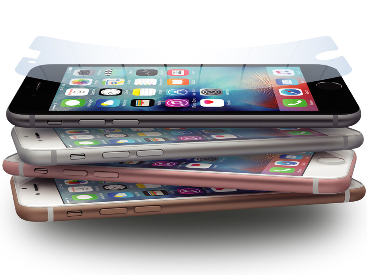 Power Support Hybrid Anti-Glare Film Set for iPhone 6s//6