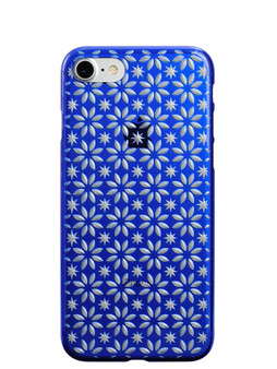 Air Jacket KIRIKO for iPhone 7 Pinwheel & Star Blue