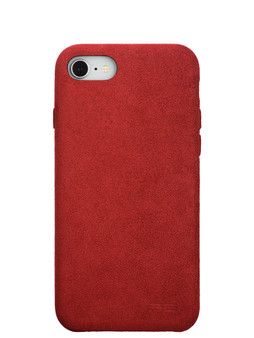 Ultrasuede Air Jacket for iPhone SE (2nd Gen)/iPhone 8/iPhone 7 Back Red