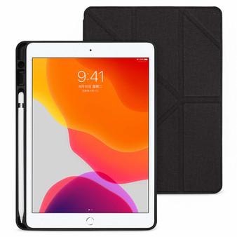 iPad 10.2 inch Amos QCAC Folio Case with Pencil Holder - Dark Grey