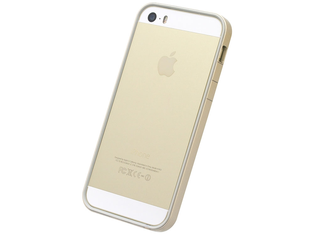 new styles d0c3e 0cdf1 Flat Bumper Gold for iPhone SE 5s/5