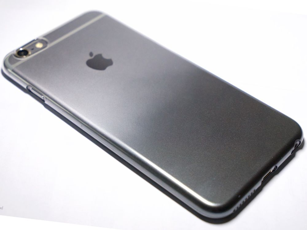 size 40 bb781 ea371 Air Jacket Set for iPhone 6s/6 Gradation Dark Gray
