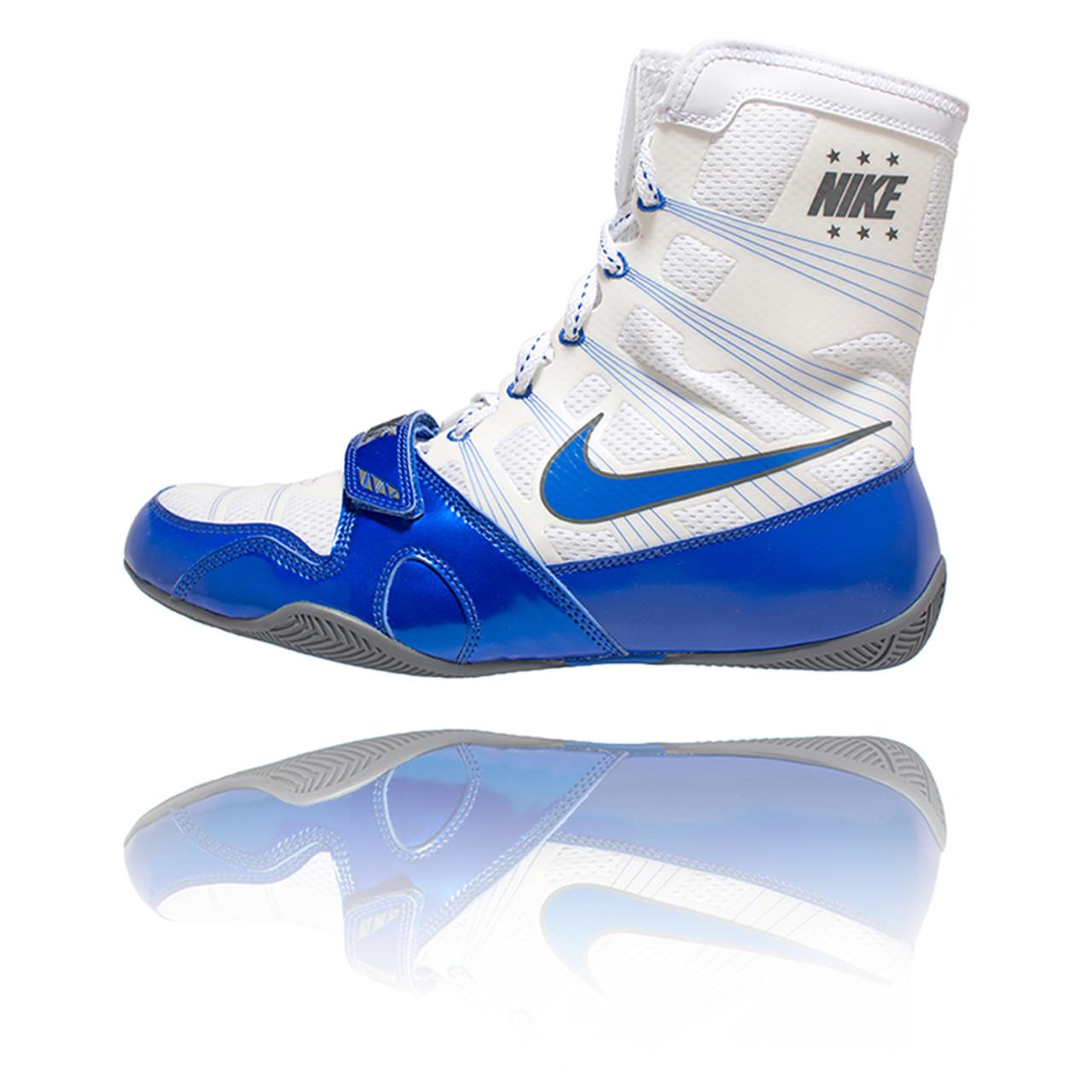 sale retailer a9d73 99ea0 Nike HyperKO - White   Game Royal Boxing Shoes - PRO BOXING SHOP®