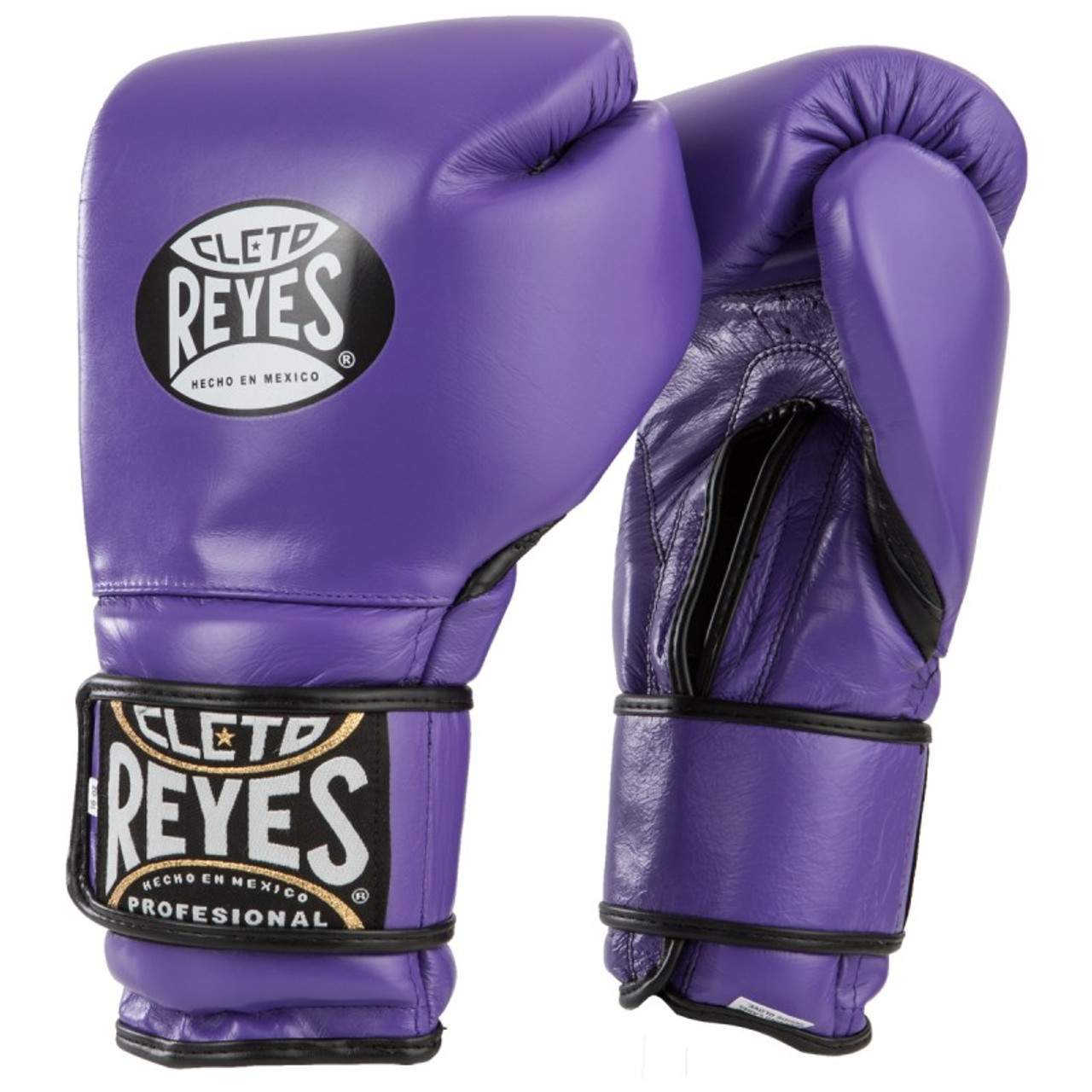 e3521f0c3d9 Cleto Reyes Hook and Loop Leather Training Boxing Gloves - Purple - PRO  BOXING SHOP®
