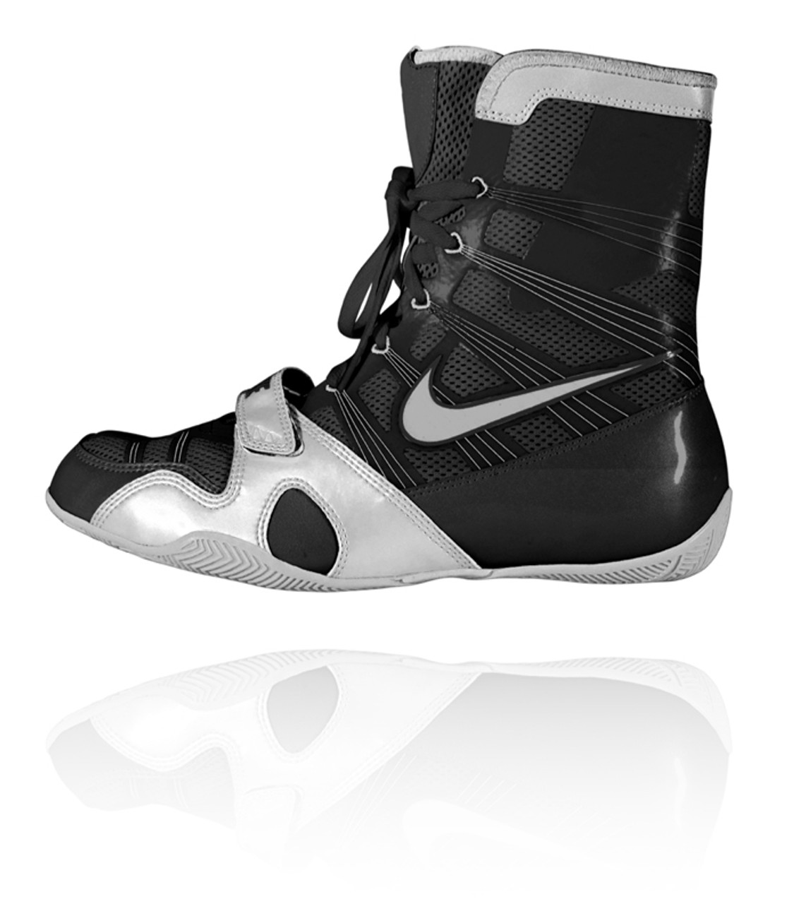 Renacimiento Cosquillas Reina  Nike HyperKO - Black / Silver Boxing Shoes - PRO BOXING SHOP